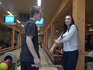 Money helped hunter score successful strike in bowling bar