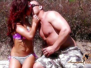 Stunning redhead Nikki Lips gets bent over and fucked doggy hard