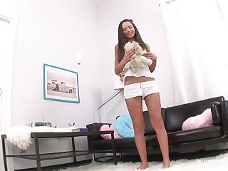 Nataly Gold gets her pussy and butt fucked badly by her handsome boyfriend