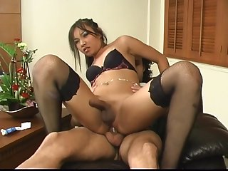 Saucy Asian Tgirl Is A Knob Hungry Latex - shemale