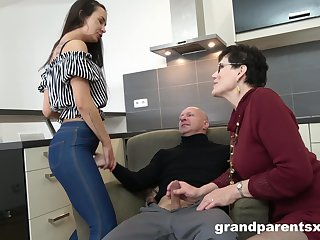 old couple want to teach young girl all about good fuck and a blowjob
