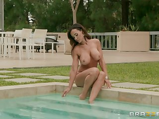 Lisa Ann is ready for hard sex with her friend after fingering and licking
