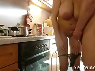 Full-Breasted Mature Fucks in Kitchen