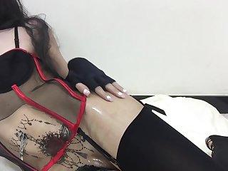 Saudi Alicha TS Solo clip Oil butt