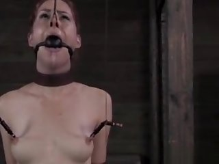 Anal Hooked Tied Up Sub Whipped Hard