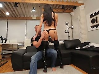 Kinky shemale with perfect boobies Susy Brasil gets analfucked darn well