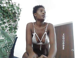 Ebony Cataleya pussy play and feet on webcam