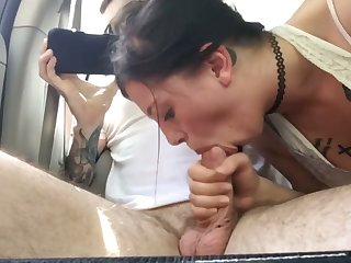 Buddys Daughter Blowing My Cock In Car