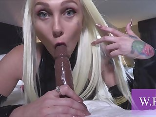 A Very Steamy And Kinky Blonde Bitch Fucked - point of view