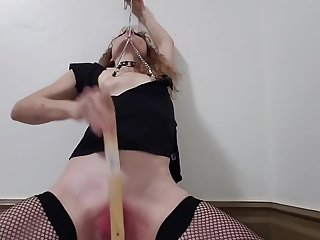 Requested, Over-The-Top Fake Creampie in Pussy & Ass, Nipple Clamp Bonus!