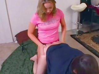 Sexy girl pegs her boyfriend