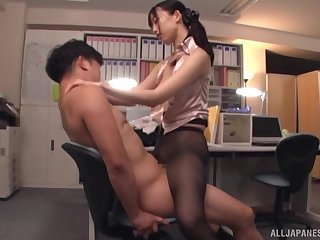 Seductive sex at the office with the busty secretary