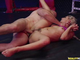 MMA fight ends in hardoce sex with blonde babe Abella Danger