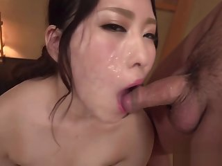 Threesome with oriental beauty