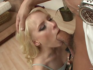 Angelic blonde girl is naughty in a hardcore fuck video