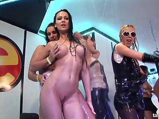 Lots of pussy pounding action in this wild groupsex action