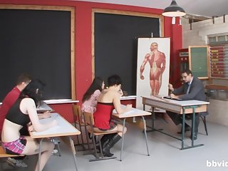 German compilation of teachers banging their students after class
