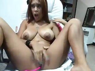 busty latina with big boobies having fun with lovense