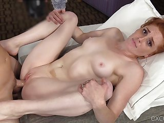 Freckled whore wants the man's cock in each of her holes