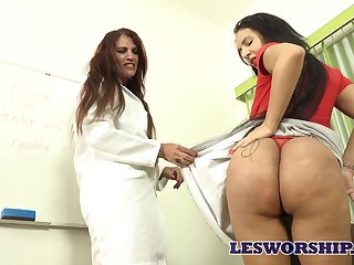 MILF teacher seems to love her student's massive Brazilian booty