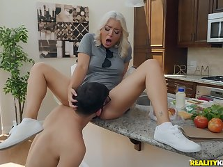 Mommy's pussy os so wet and tight the son loves it
