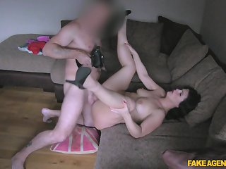 Amateur filmed during her first porn play as a MILF