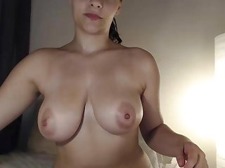 PAWG with big natural tits enjoys anal fingering - busty girl next door