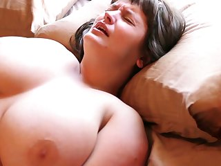 Hairy Aussie with big tits loves masturbating with her vibrating egg