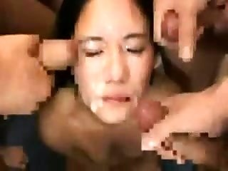 Bukkake Cum Swallowing Group Sex Fun