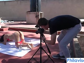 Rooftop bj with tiny latina Ferr Lima