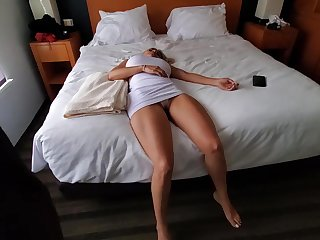 Knocked out blonde with big boobs is about to become a fuck doll for a horny guy