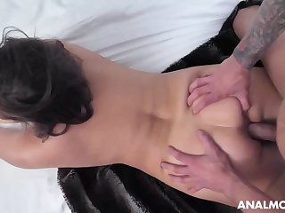Buxomy dark-haired cougar, Natasha is about to deep-throat bone and get screwed in the douche