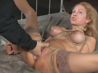 Hardcore torture session with interracial fucking - Rain DeGrey