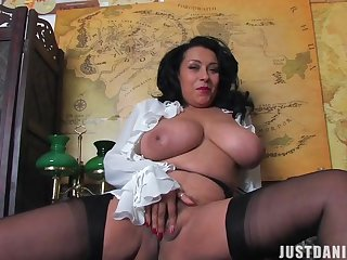 Round ass MILF Danica Collins drops her panties to have some fun