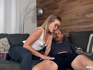 Man's hard wood causes this thin hon the best orgasm