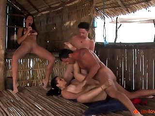 One Babe Vs Two Cocks And One Snatch - Sex Orgy Love Making